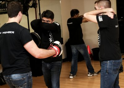 A.C.W.A. Combatives - Mitt Drills with Cover